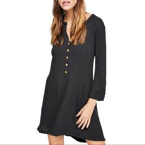 Free People Blossom Button-Up T-Shirt Dress
